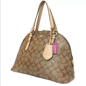 Coach Peyton Signature Cora Domed Handbag